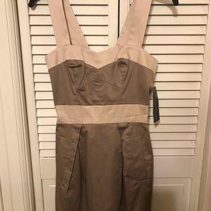 NWT French Connection Otto/Pavola tan dress size 0